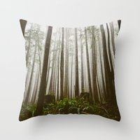 Rainforest of the Pacific Northwest Throw Pillow