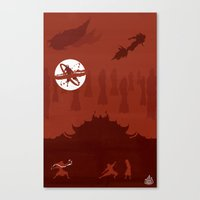 Avatar - Fire Book Canvas Print