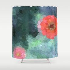 flower mosaic  Shower Curtain