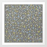 Dotty Yellow Design Art Print
