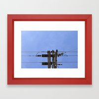 Electrical Framed Art Print