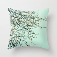 Spring Tapestry Throw Pillow