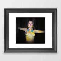 The Summoning  Shaman Framed Art Print