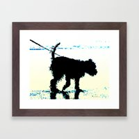 Blues Dog Framed Art Print