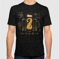 Le Beer (Elixir Of Life) Mens Fitted Tee Tri-Black SMALL
