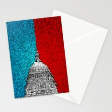 Capitol Building Abstract Stationery Cards