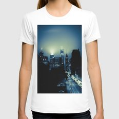 Philly glow Womens Fitted Tee White SMALL