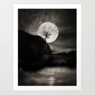 The Moon And The Tree.. Art Print
