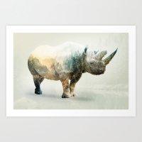 RHINO SPINE Art Print