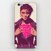 THE GIRL WITH THE DRAGON… iPhone & iPod Skin