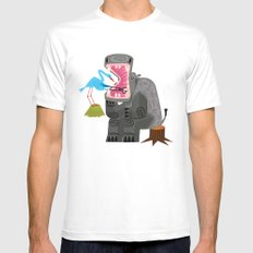 Hippopotamouth SMALL White Mens Fitted Tee