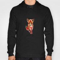Cute Little Red Fox Wate… Hoody