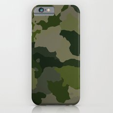 Shades of Green Camo iPhone 6s Slim Case