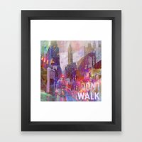 Snowstorm on the city Framed Art Print