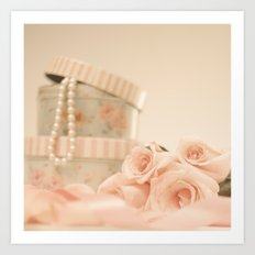 Pretty Roses and Pearls Art Print
