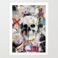Art Print featuring Skull by FAMOUS WHEN DEAD