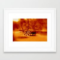 Wagon Wheels Framed Art Print