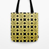 Golden Snow Tote Bag