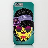 sugar skull iPhone & iPod Cases featuring SUGAR SKULL by mark ashkenazi