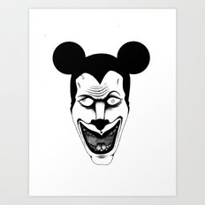 Maniac Mickey Art Print