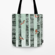 January Birds Tote Bag