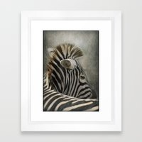 The striped Mohican Framed Art Print