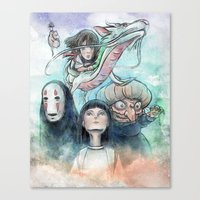 Spirited Away Watercolor… Canvas Print