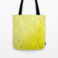 neon yellow ombre cotton crochet Tote Bag