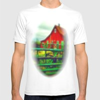 Red House Mens Fitted Tee White SMALL