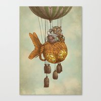 Around the World in the Goldfish Flyer Canvas Print
