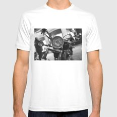 Motorcycle Mens Fitted Tee White SMALL