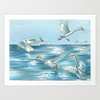 Children of Lir Art Print
