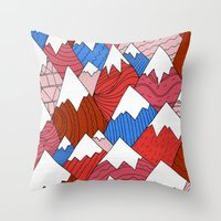 The Red Mountains (Pattern) Throw Pillow