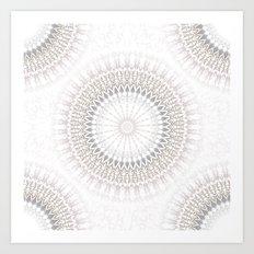 Pastel Gray Mandala 2 Art Print