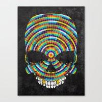 Hypnotic Skull Canvas Print