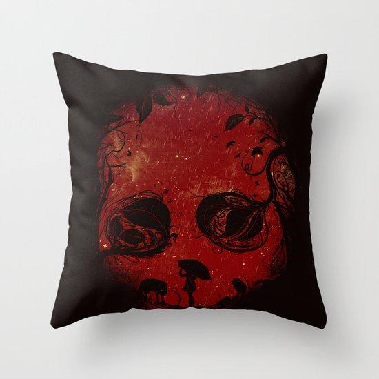 Red Encounter Throw Pillow