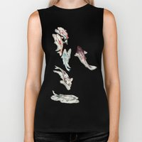 Koi Fish Watercolour Biker Tank