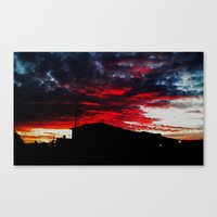 Red Sky Apocalypse  Canvas Print