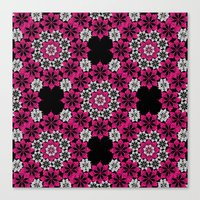 Squiggle Pink Canvas Print