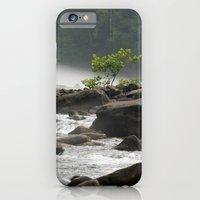 iPhone & iPod Case featuring Summer Gauley River Fog by Smileyface Photos