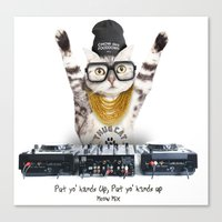Thug Cat Canvas Print