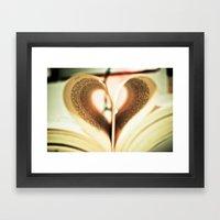Love to Read. Framed Art Print