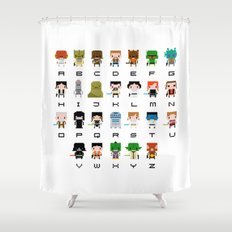 Star Wars Alphabet Shower Curtain