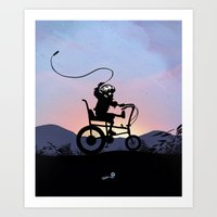 Ghost Rider Kid Art Print