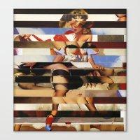 Glitch Pin-Up Redux: Dai… Canvas Print