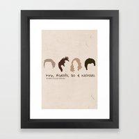 The many styles of Chris Pine. Framed Art Print