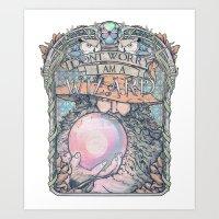 Wizard print Art Print