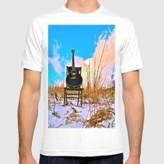 Winter Blues SMALL White Mens Fitted Tee