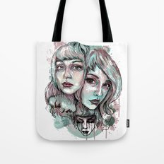 Faces and Color Tote Bag