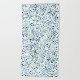 Beach Towel - Ice and Diamonds Art Deco Pattern - micklyn